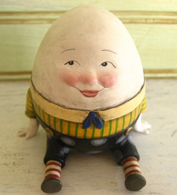 humpty dumpty sculpture figurine by CreationCottage on Etsy