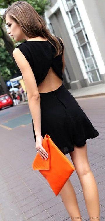 オープンバックドレス 部分開き ブラック