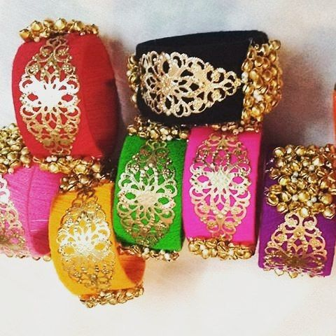 "33 Likes, 10 Comments - zeeanagotajewellery (@zeeana_by_pallavi) on Instagram: ""Such bright colors...can't get over these Broad Ghungroo bangles.. Hurry up adorn these beauties n…"""