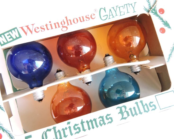Vintage Christmas Light Bulbs, Tested and Working, Round G-14 Bulbs, Westinghouse Gayety Christmas Bulbs, Multicolor Christmas Lights by ninthstreetvintage on Etsy