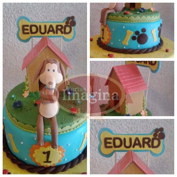 Tortas Imagina - torta niño perro chocolo - torta cumpleaños perro chocolo - torta niño