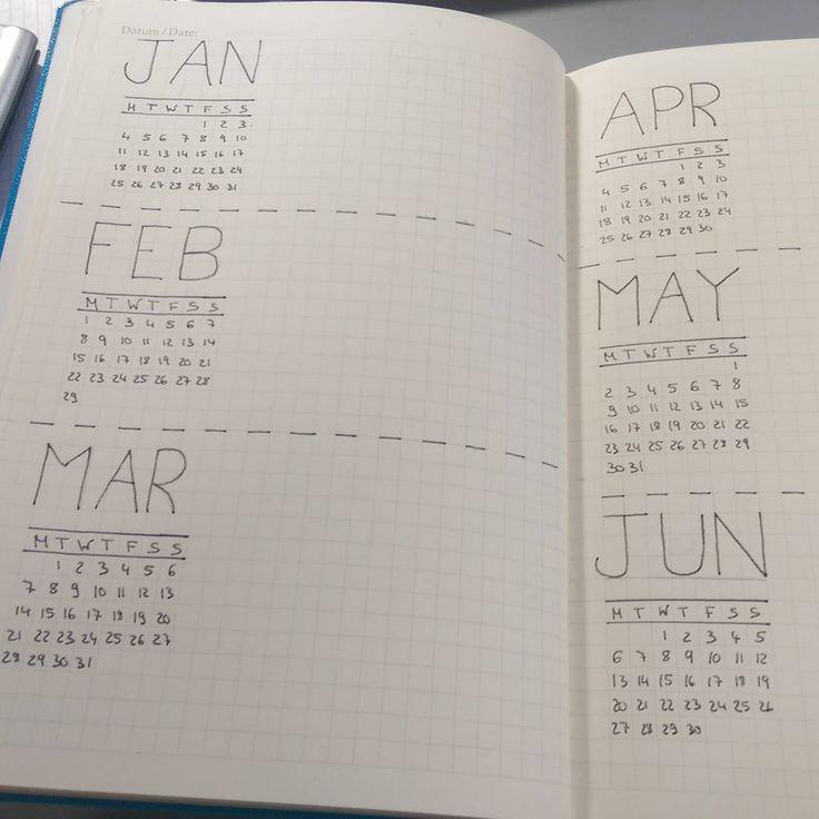 Planning my new bullet journal for next year! So far it looks amazing #bulletjournal #studyspo #year2016