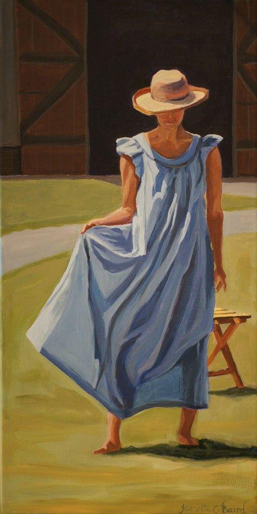 Chica con vestido azul - Jeanette Baird