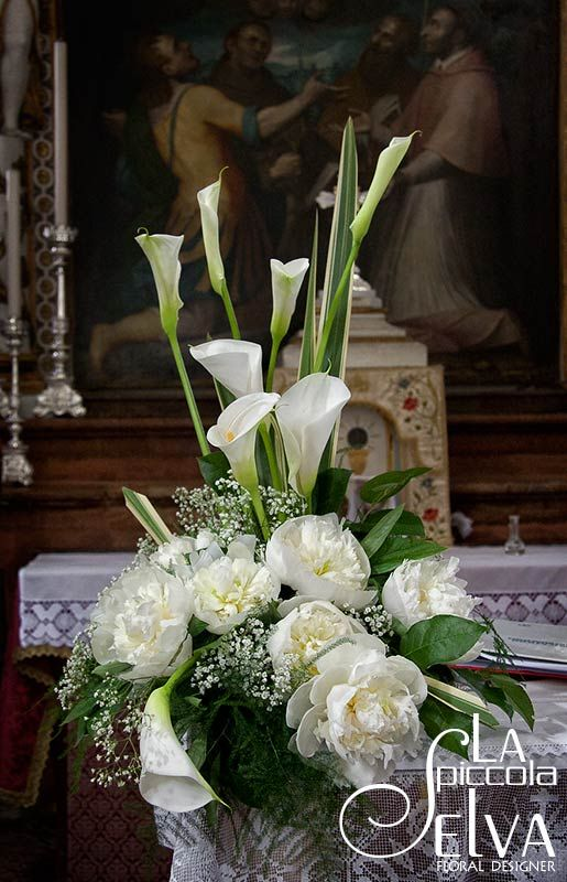 Addobbi Chiesa Matrimonio Peonie Migliore Collezione Con Immagini Composizioni Floreali Composizioni Floreali Semplici