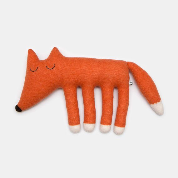 Large Monty the Fox Lambswool Plush Toy Made to order от saracarr