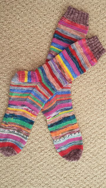 Ravelry: NurseGladys' Monstersocks Russian-joined scrap sock yarns