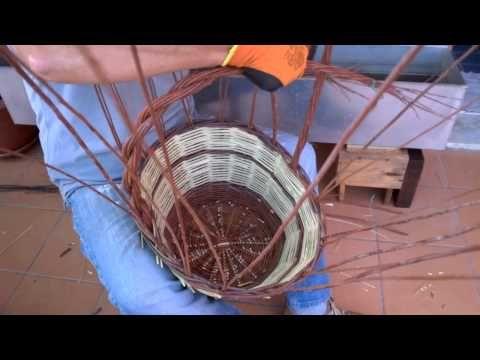 Come fare un manico di un cesto in salice - YouTube