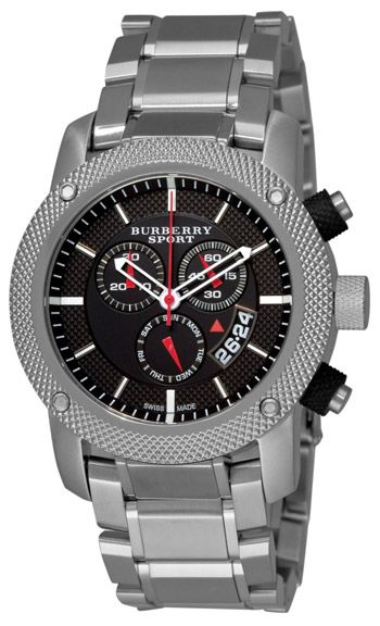 Burberry Heritage Chronograph Mens Wristwatch: Bracelet Watch, Mens, Men'S, Black Chronograph, Chronograph Dial, Burberry Men, Watches, Stainless Steel