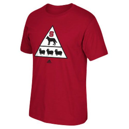 NC State Wolpfack adidas® Red Pyramid T-Shirt