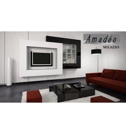 17 best ideas about ensemble meuble tv on pinterest for Meuble tv mural miraz 03