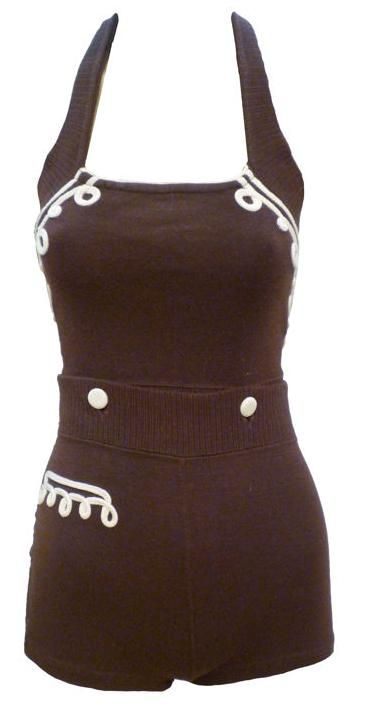Bathing Suit    1930s    1stdibs.com....would wear it as a romper now....so cute