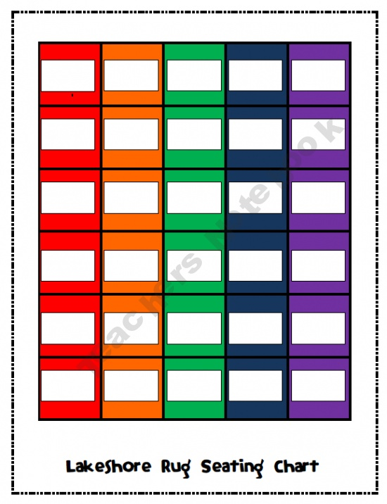 Classroom Designer Lakeshore Learning ~ Lakeshore rug seating chart great for subs