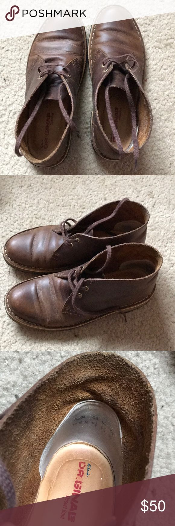 Clark's Beeswax Desert Boots Beeswax brown Clarks leather boot! Size 8.5 in good condition. Clarks Shoes Ankle Boots & Booties