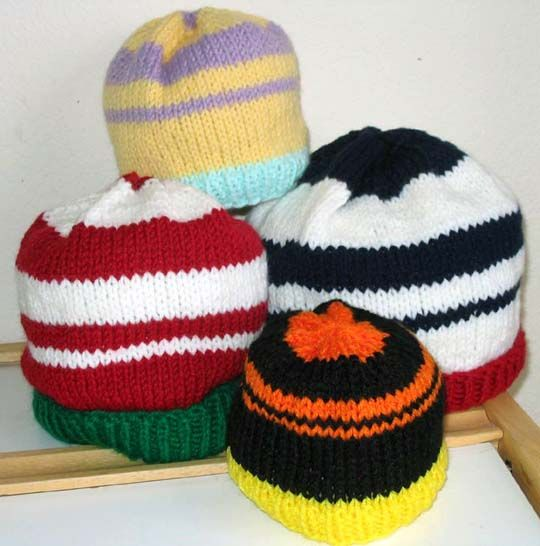 Festive Occasion Knit Hats, worsted wt yarn