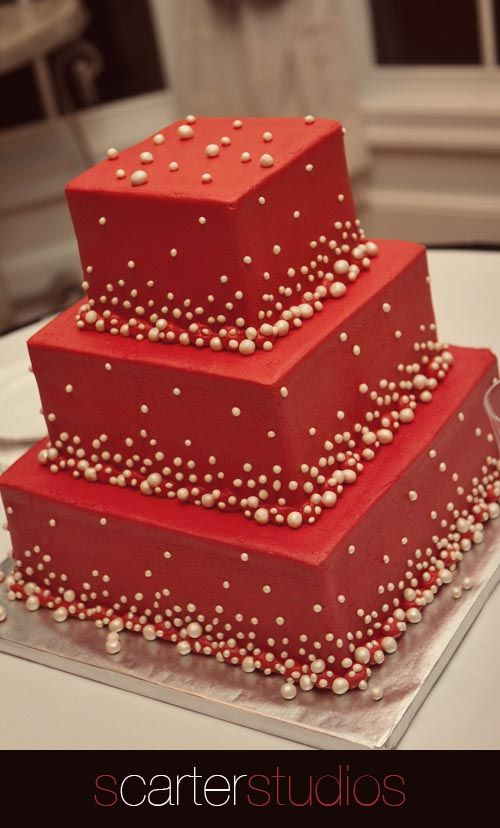 #red wedding cake... Wedding ideas for brides, grooms, parents & planners ... https://itunes.apple.com/us/app/the-gold-wedding-planner/id498112599?ls=1=8 … plus how to organise an entire wedding, without overspending ♥ The Gold Wedding Planner iPhone App ♥