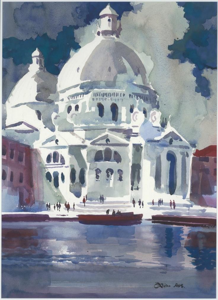 Don ONeill Watercolor - San Maria Del Salute, Venice, $194.99 (http://www.dononeill.com/san-maria-del-salute-venice/)