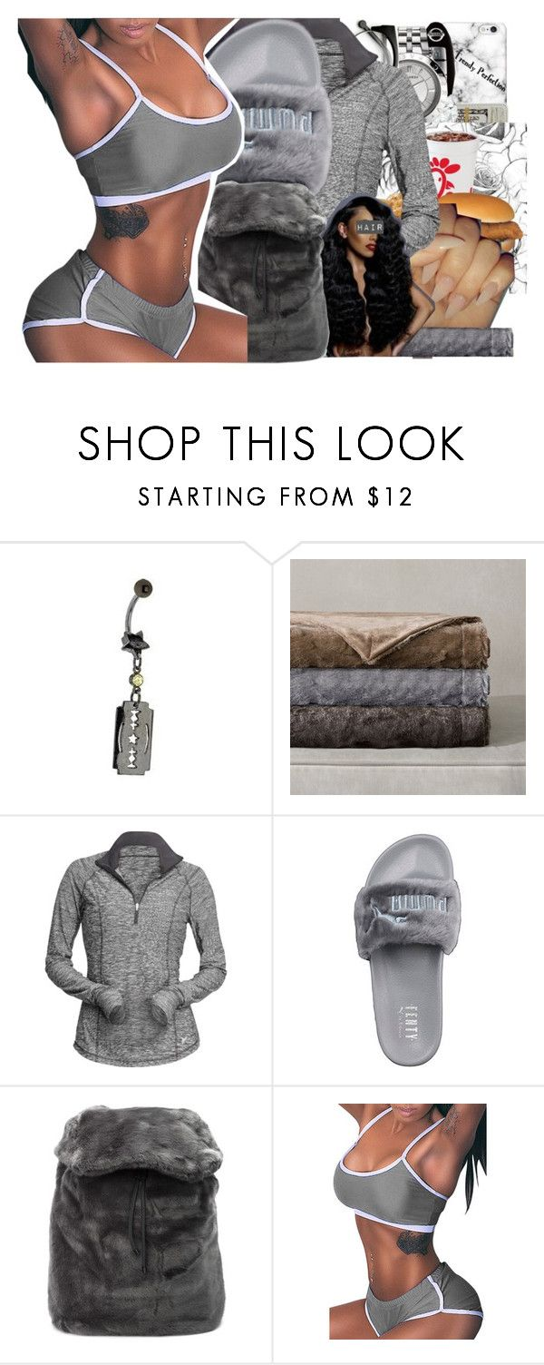 """Untitled #2347"" by kayla77johnson ❤ liked on Polyvore featuring Artista, Madison Park, Old Navy and Puma"