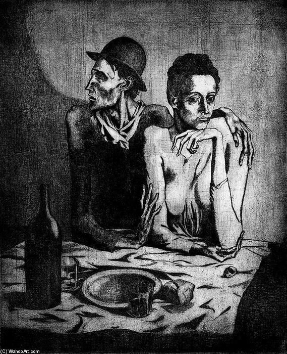 "Pablo Picasso (Spanish, 1881-1973), ""A Simple Meal (2),"" 1904."
