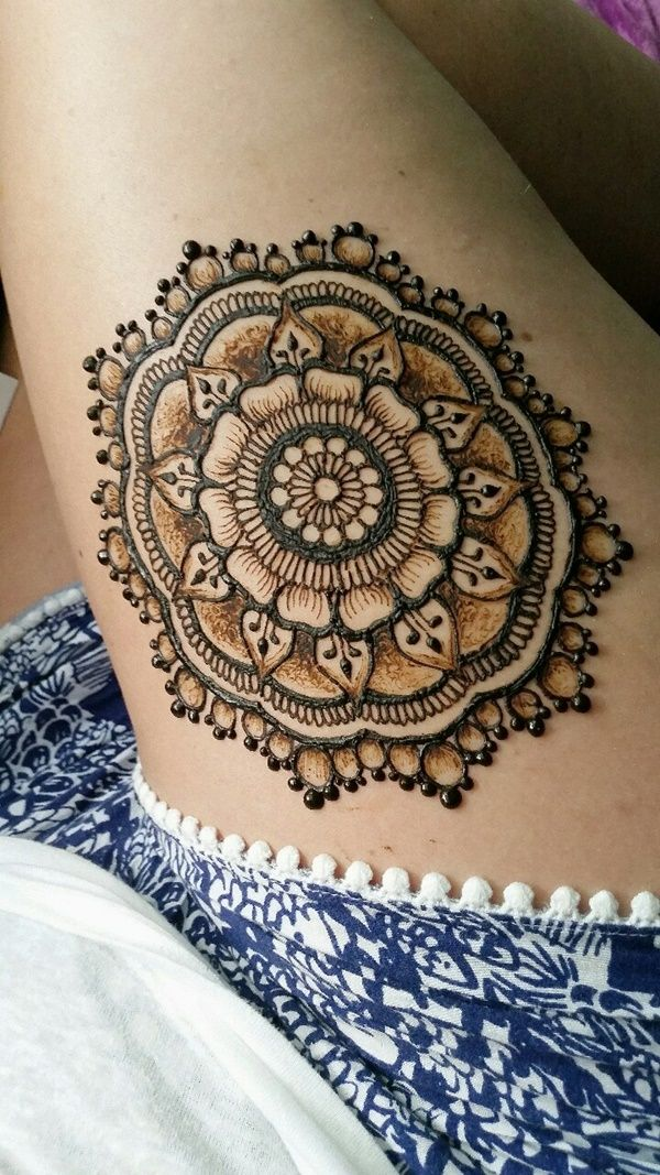 best 25 thigh henna ideas on pinterest mandala tattoo henna leg tattoo and henna tattoos. Black Bedroom Furniture Sets. Home Design Ideas