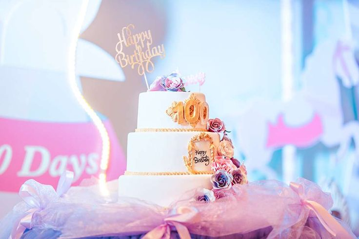 The birthday cake at this Roller coaster 100 days party is beautiful! See more party ideas and share yours at CatchMyParty.com