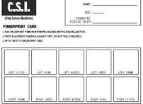 Free Fingerprint Cards   Print extra fingerprint cards for the CSI Detective Kit