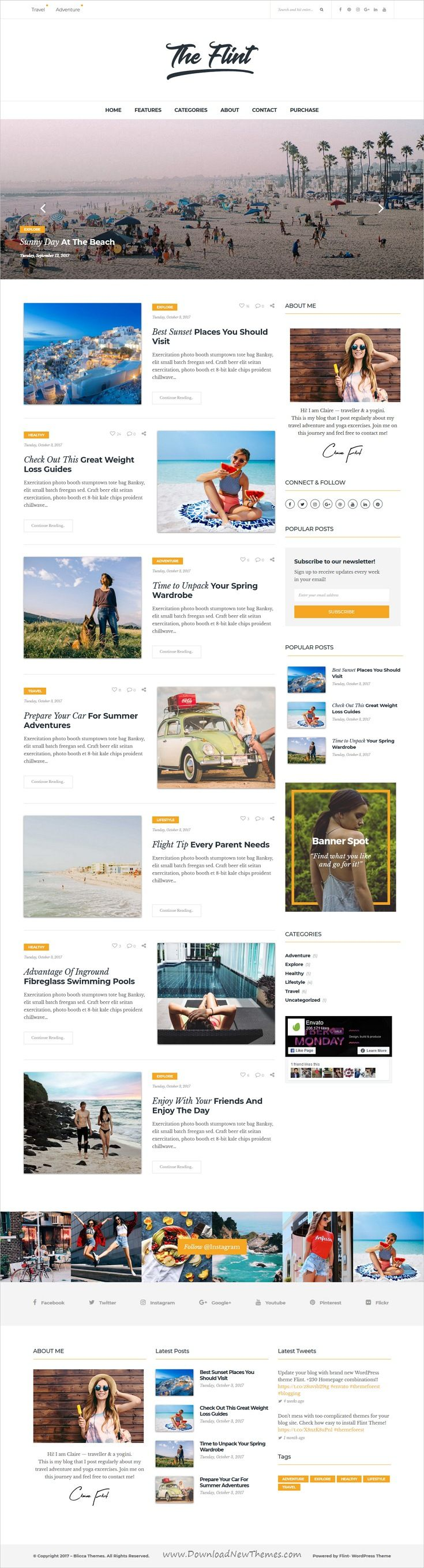 Flint Optimised WordPress Blog Theme Wordpress