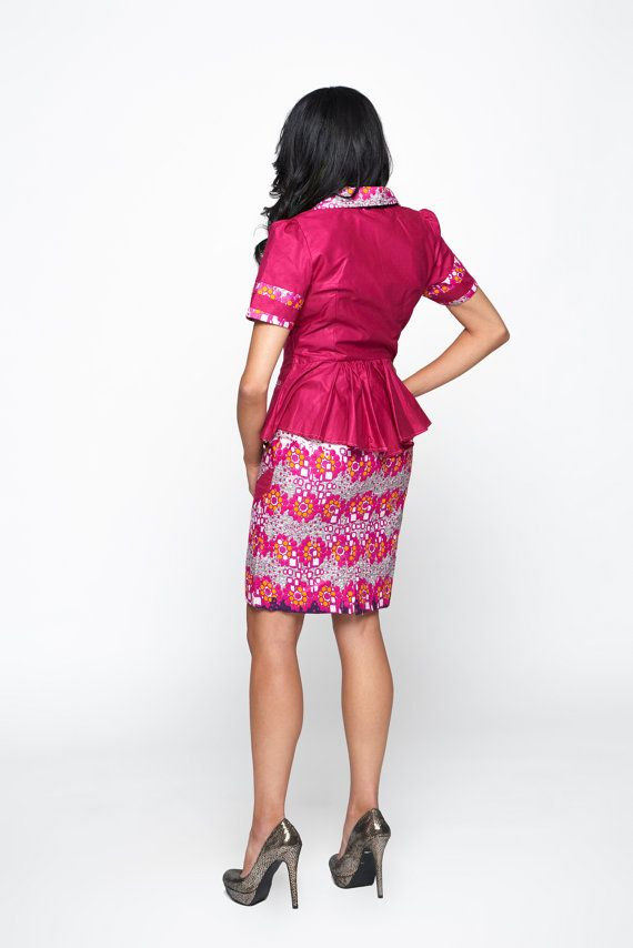 Pink Multicoloured Woodin Ankara African Print Business Suit