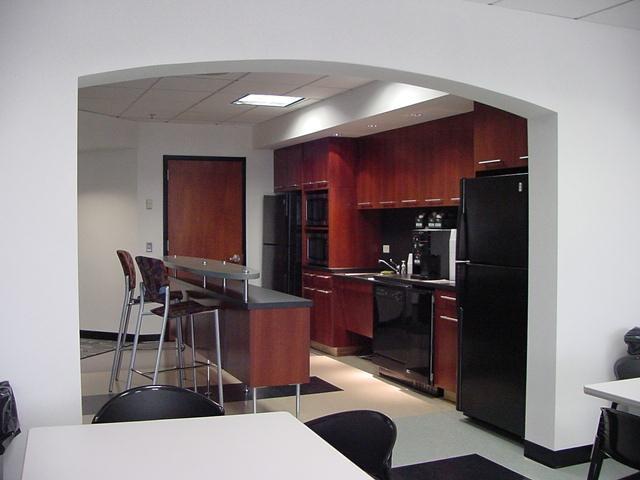 Large kitchen commercial office break room designs for Office break room ideas