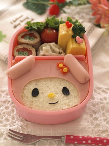 my melody sandwich bento