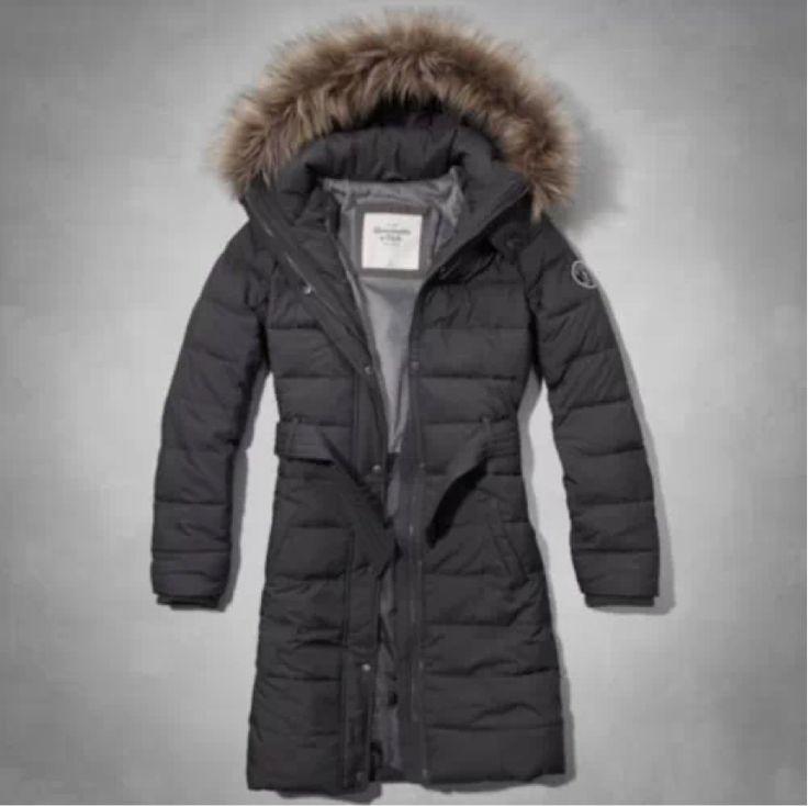 Abercrombie & Fitch Mandy Parka Coat Puffer Gray Women's ...