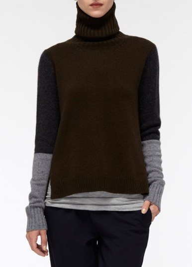 This might be the coolest turtleneck I've ever seen, but I can't afford the $325 pricetag...thinking of doing some thrift shop crafting this weekend....
