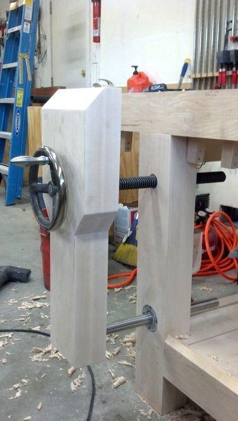 Roubo Workbench Leg Vise Alternative – Linear Bearings | The Wood Whisperer