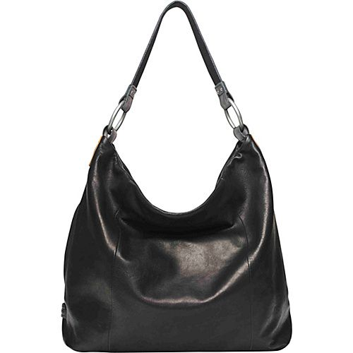 Ellington Handbags Sadie Glazed Hobo Black - Ellington Handbags Leather Handbags