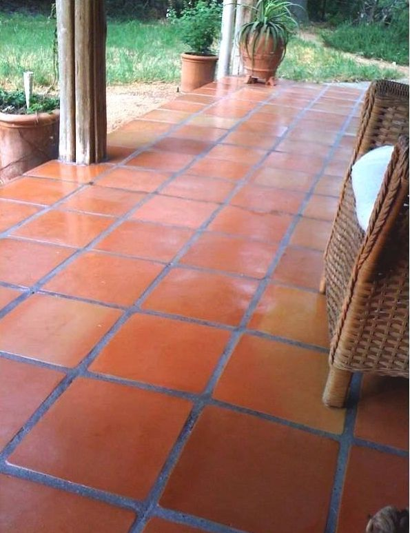 Terracotta Broken Tile Front Porch Design Google Search