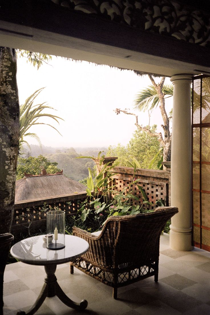 Soak up the serenity of Ubud's lush foothills from the peace of your own private terrace. Behind the French doors, your bedroom is just as tranquil, with a four-poster bed draped in white cotton. Uma by Como, from $258 a night B&B for a terrace room, comohotels.com.   - HarpersBAZAAR.com