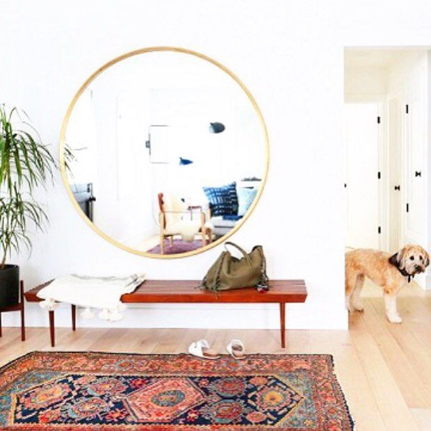 one day I'll have a bright entry like this but in the meantime I recreated three mid century modern boho rooms on the blog. come check it out @tessaneustadt #ontheblog #decor #boho