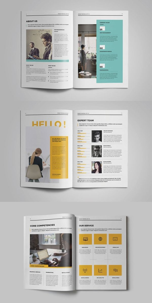 30 Proposal Templates For Adobe Indesign Visual Arts Identity Web Design Proposal Web Design Projects Creative Proposals
