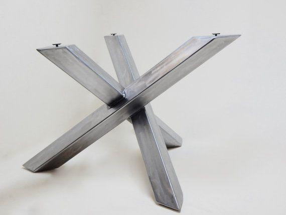 Modern Industrial Table Base, Steel Table Legs, Welded, Modern Dining Table,  Steel