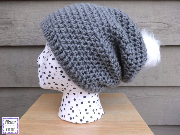 Free Crochet Pattern...Cottontail Slouch! I would leave off the pompom CANNOT SELL