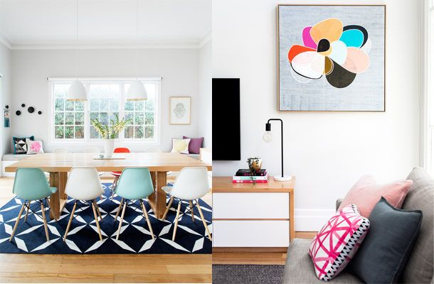 House Tour: Minimalism with a pop of colour
