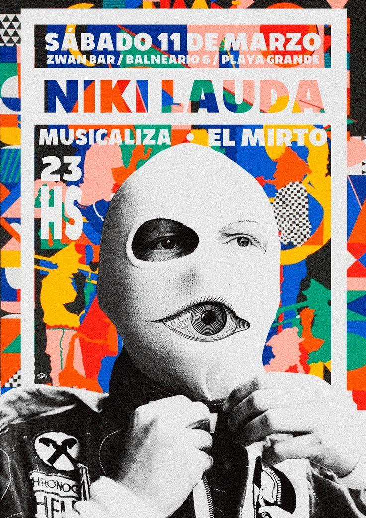 Niki Lauda Gig Poster Contemporary Design Inspiration