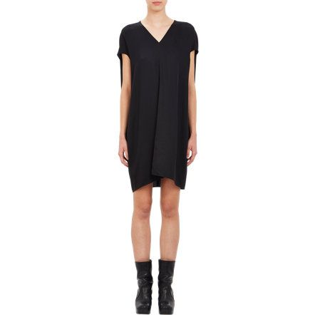 i could eat a lot of cookies in this dress :) Rick Owens V-neck Cocoon Dress at Barneys.com