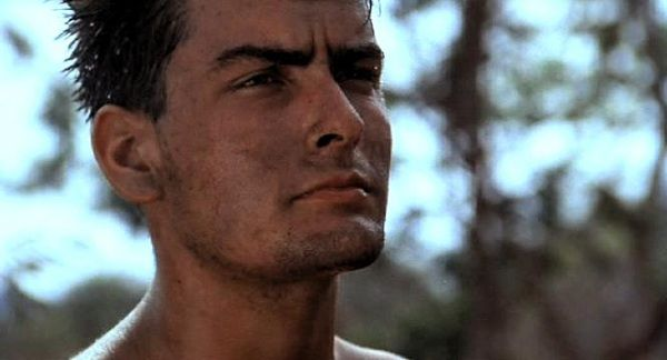 """Platoon - Charlie Sheen already """"Winning"""" at an early age."""