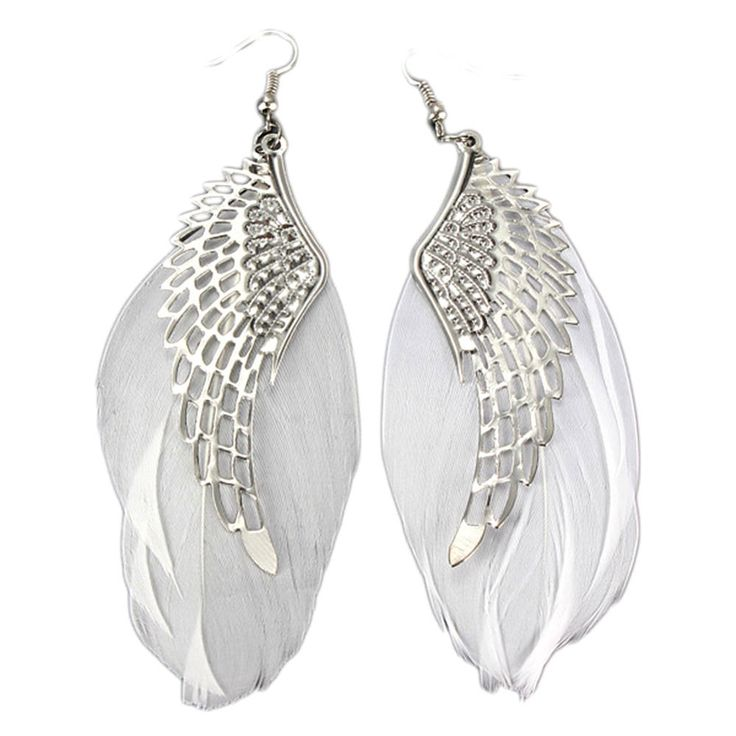 Feather & Angel Wing Earrings Bohemian Large Dangle Drop NEW #Unbranded #DropDangle