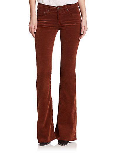 rag & bone/JEAN - Mid-Rise Stretch Corduroy Flared Jeans