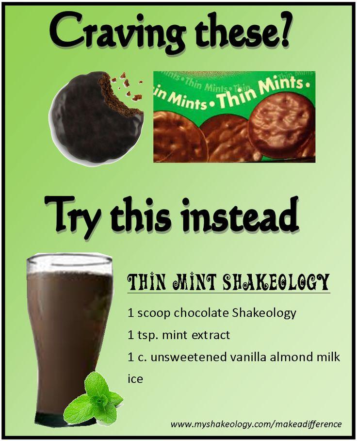 Thin Mint Shakeology recipe  http://www.shakeology.com/tarbear83, http://www.beachbodycoach.com/Tarbear83