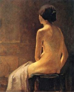 Emil Nolde, Parisian Model, 1900. Oil on canvas. Private collection.  via The Athenaeum