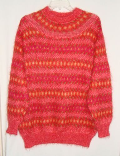 UNITED-COLORS-OF-BENETTON-Mohair-Blend-Womens-Sweater-Sz-44-Med-Made-in-ITALY