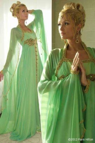 Dubai Very Fancy Kaftans Abaya Jalabiya Ladies Maxi Dress Wedding Gown Earring | eBay