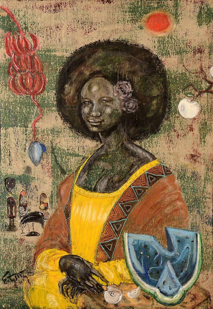 0233 [Ealy Mays] The Black Mona Lisa (Yellow Mama Lisa)